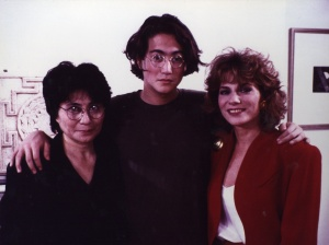 Rona Elliot with Yoko Ono and Sean Lennon