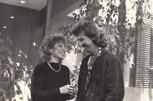 Rona Elliot with George Harrison
