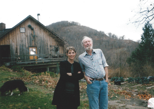 Rona Elliot with Pete Seeger Dec. 7 1998 - Beacon, New York.